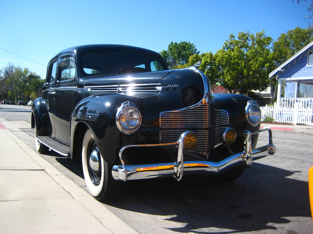 1940 dodge d 14 four door sedan the chrome on the for 1940 dodge 4 door sedan
