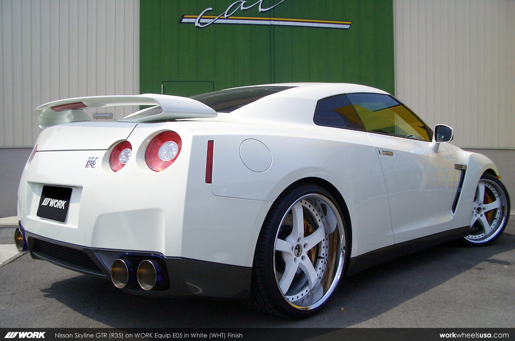 nissan skyline gtr r35 on work equip e05 wht nissan sk flickr. Black Bedroom Furniture Sets. Home Design Ideas