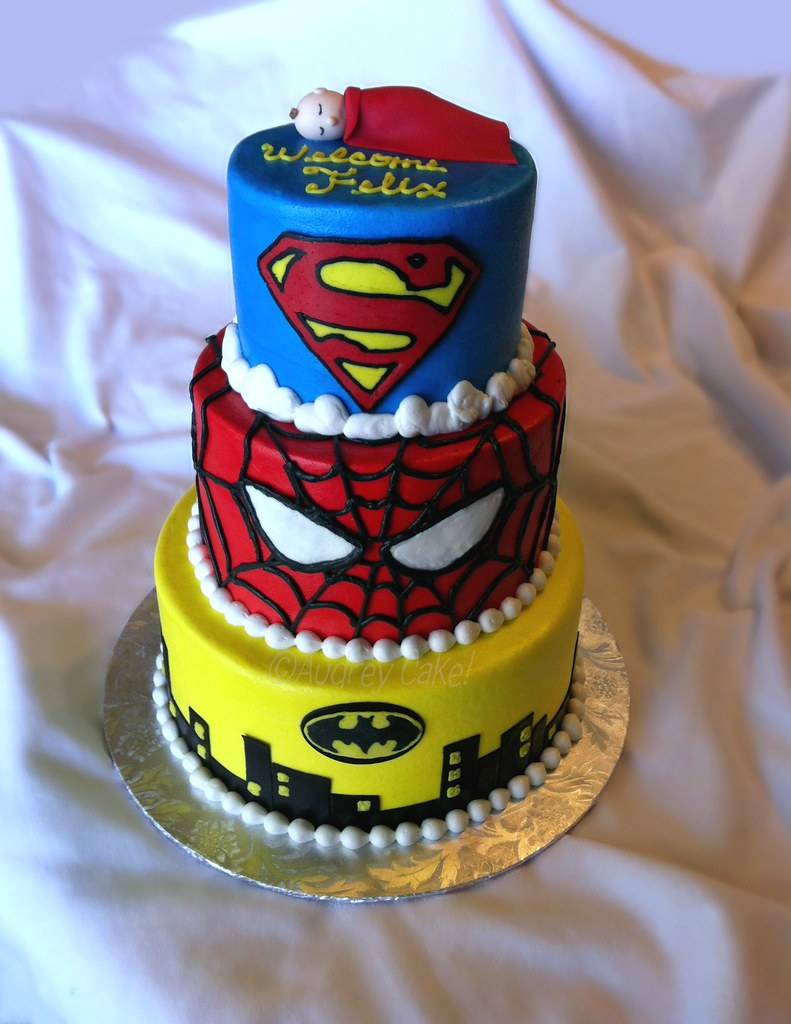 superhero baby shower cake i know both dc and marvel are r
