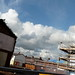 Houses under construction on Bowes Street as part of Infusion Homes development in Moss Side, Manchester