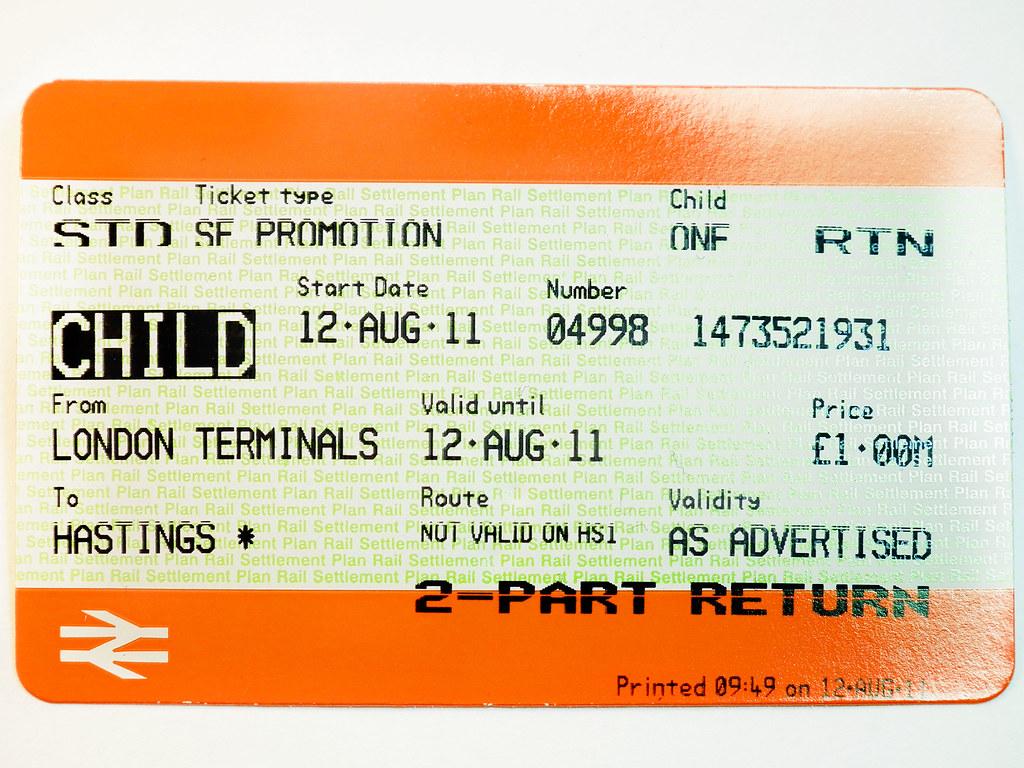 Child Train Ticket Daisy Hodgson Flickr