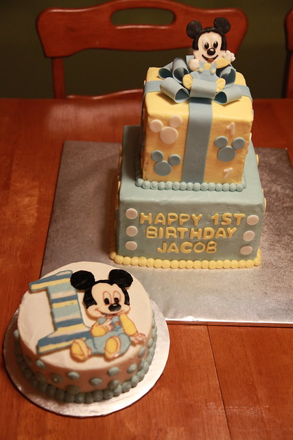 Baby Mickey Mouse first birthday cake  Flickr - Photo Sharing!