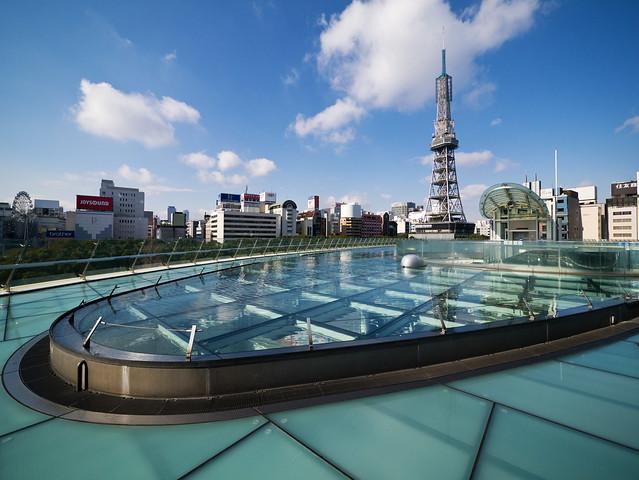 オアシス21とテレビ塔 Oasis 21 & Nagoya TV Tower
