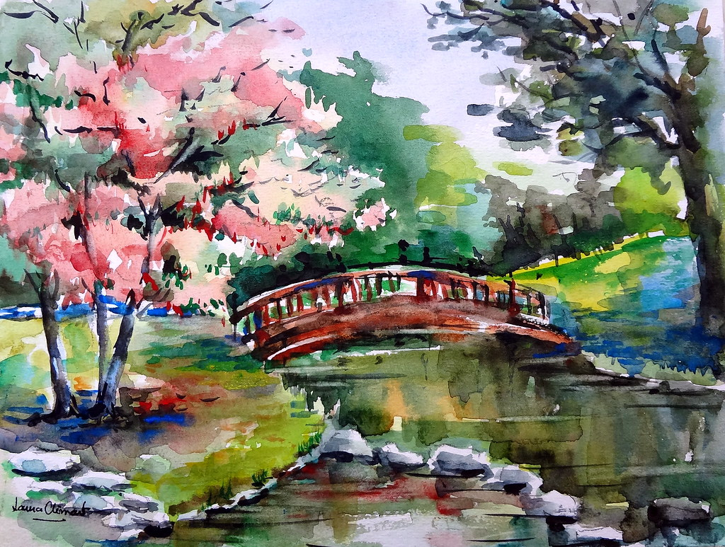 Japanese Landscape Drawing Japanese Landscape | by