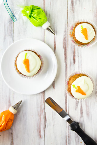 Tropical Carrot Cake Cupcakes with Coconut Cream Cheese Frosting | by TheBrewer&TheBaker