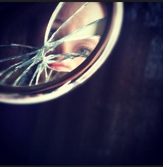 Broken Glass Fragments Reflection