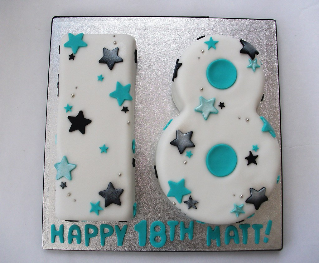 18th Birthday Number Cake Www Fairydustbakery Co Uk Flickr