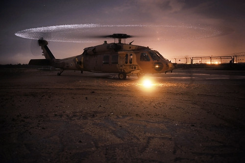 Chopper's Blades Give Off a Ring of Light | by Israel Defense Forces