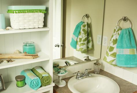 Little Bathroom Makeover Aqua Green Gray Flickr Photo Sharing
