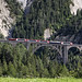 Glacier Express crossing the Wiesener Viaduct towards Davos, Switzerland