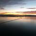 Sunset over the San Mateo bridge
