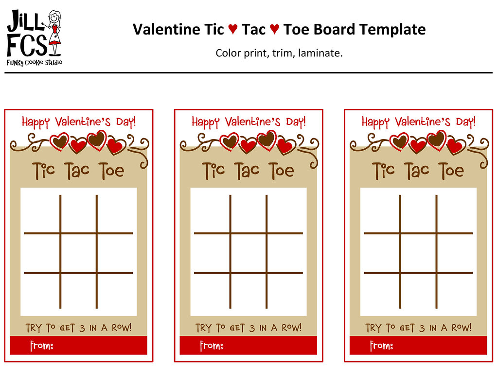 Valentine Tic-Tac-Toe Board Template | Here is the ...
