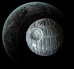Star Wars Death Star Cake in Orbit