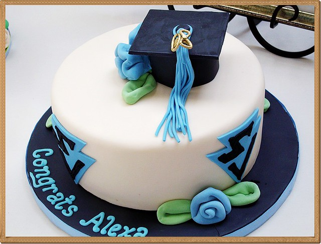 Round Graduation Cake Images : Round Fondant Cake (Graduation) Flickr - Photo Sharing!