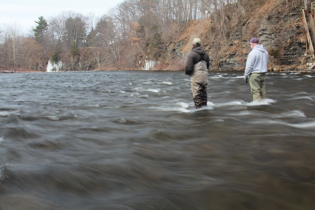 2 anglers 2 anglers fish the famous salmon river in for Salmon river ny fishing map