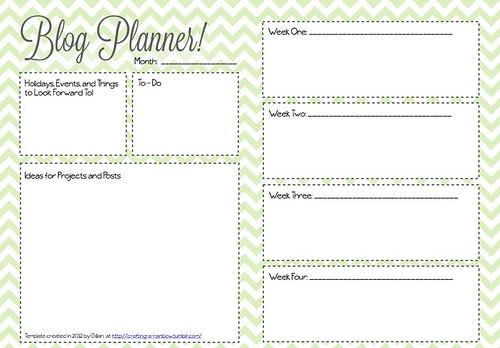 Monthly Blog Planner Template | Flickr - Photo Sharing!