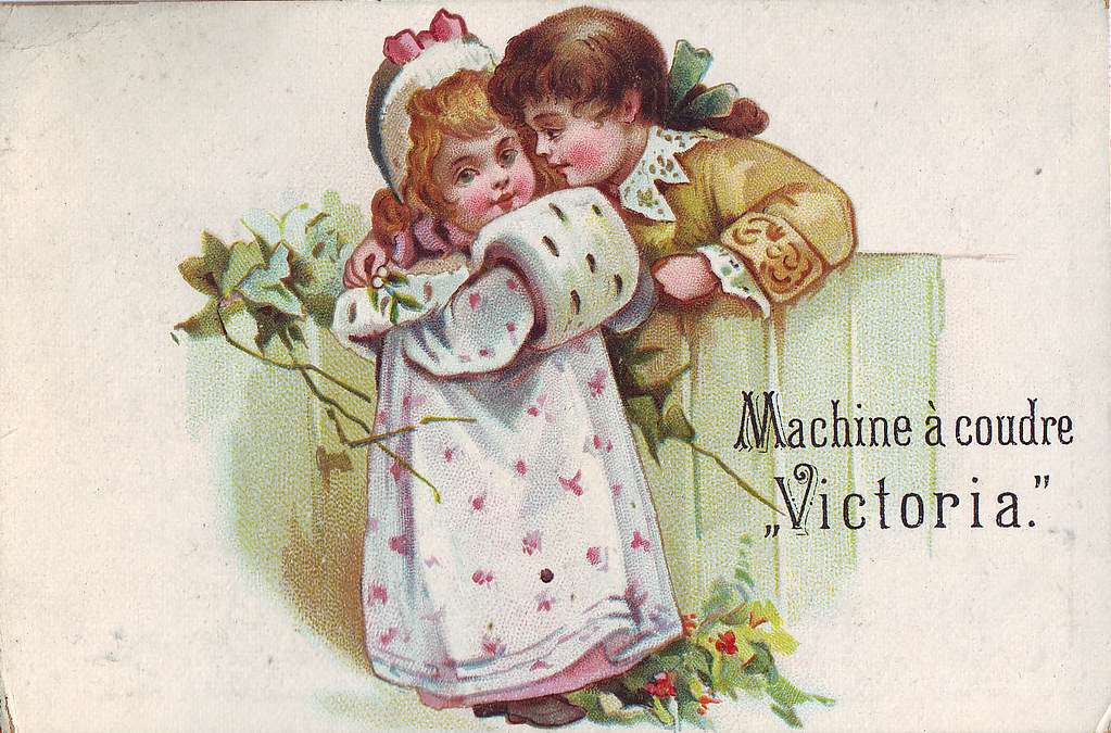 Chromo la machine a coudre victoria romantic scene ove for Machine a coudre victoria