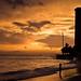 Evening light show - Waikiki Beach