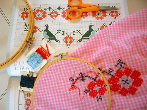cross stitch curtain w.i.p. | by yellowhouse72