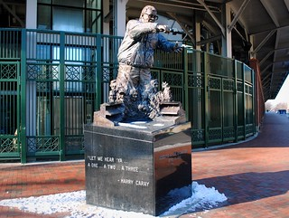 Harry Caray Statue outside Wrigley Field | by Cragin Spring