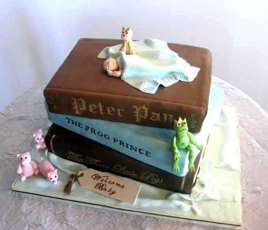 Fairy Tale Books Baby Shower Cake