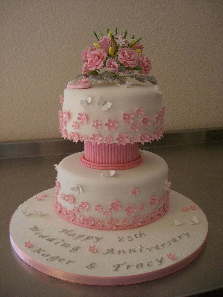 25 Best Ideas About 25th Anniversary Cakes On Pinterest 25th Wedding