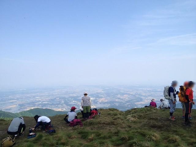 竜ヶ岳 山頂 いなべ方面の眺望