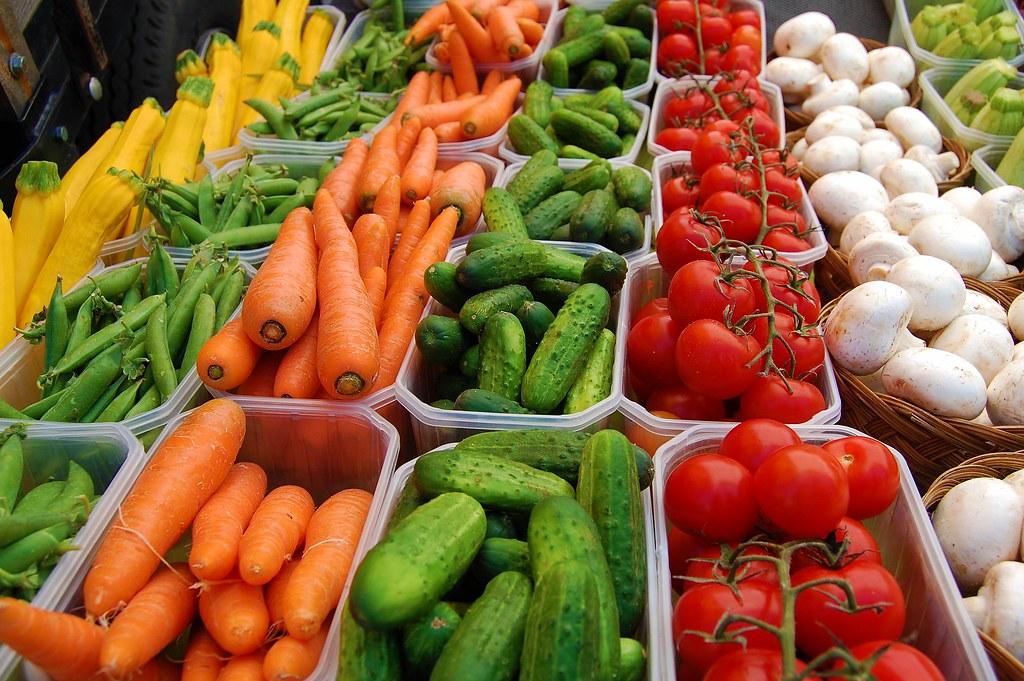 Fresh Fruit And Vegetables At Menonite Farmers Market