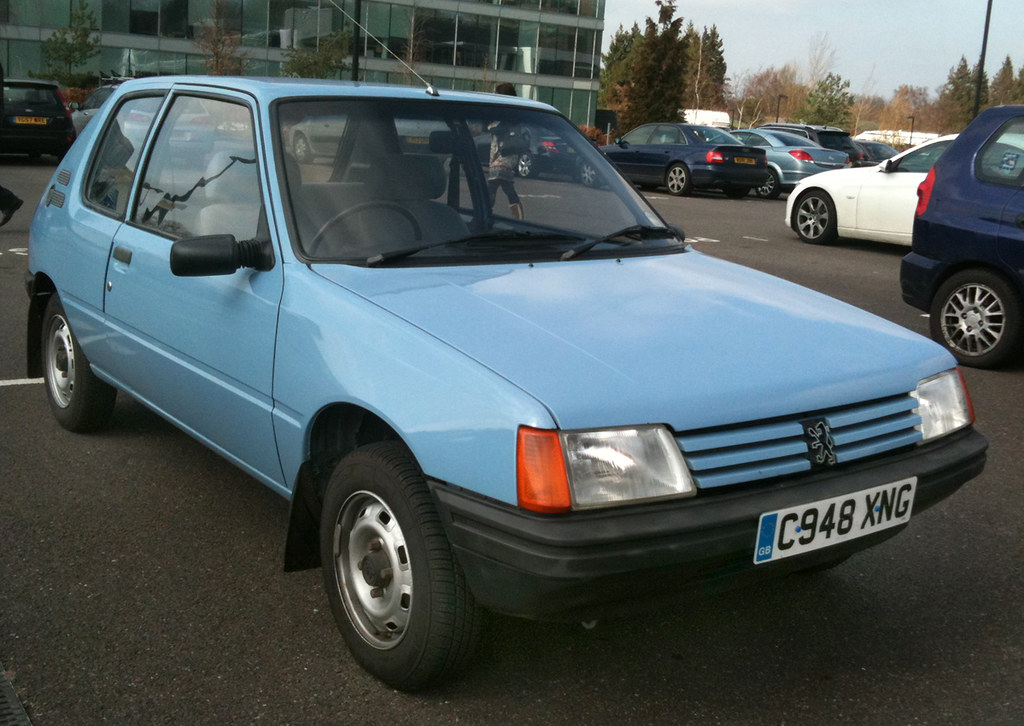 1985 peugeot 205 xe seen in the car park at the austin and flickr. Black Bedroom Furniture Sets. Home Design Ideas