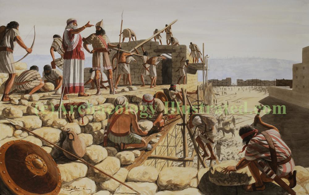 Nehemiah Directs The Rebuilding Of Jerusalem S Walls Ill