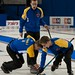 Napanee, ON Feb 12 2011 M&M Canadian Juniors Team Alberta Skip Brendan Bottcher, Second Landon Bucholz, Lead Bryce Bucholz. Michael Burns Photo Ltd.