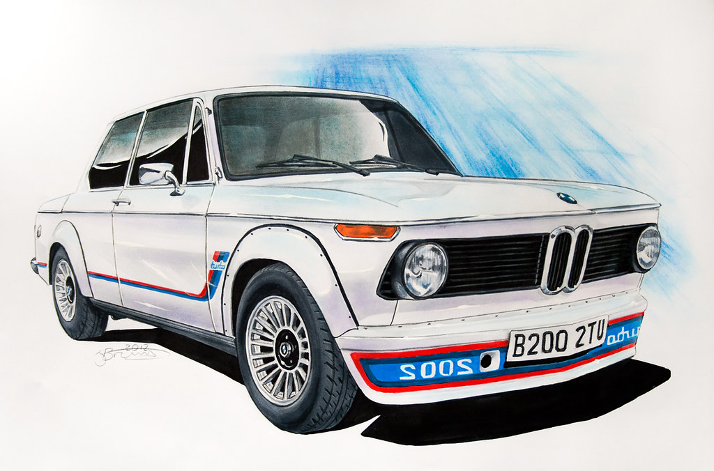 bmw 2002 turbo drawing drawing of a bmw 2002 turbo done u flickr. Black Bedroom Furniture Sets. Home Design Ideas