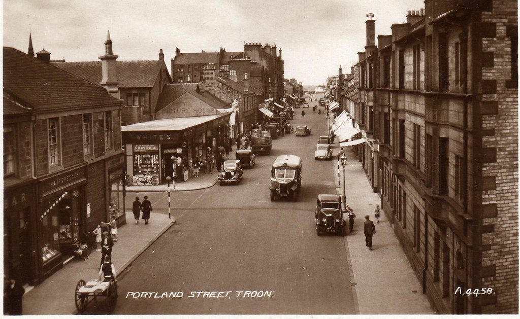 Troon - 1950s   An old postcard showing a view down ...