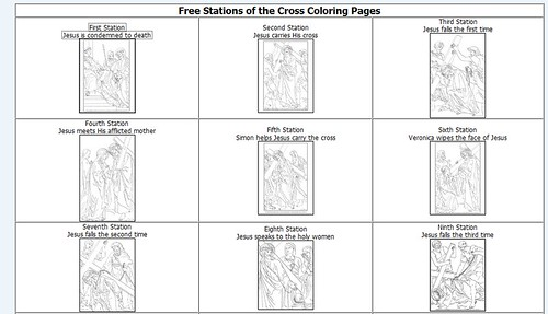 Stations Of The Cross Coloring Pages Pdf
