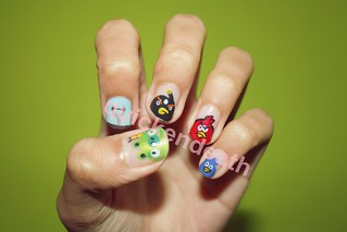 Angry Birds Nail Art II | by quickendeath