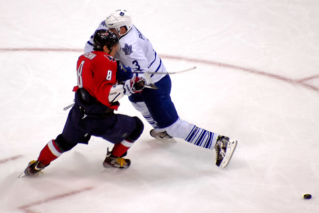 ovechkin and phaneuf hit washington dc march 11 2012