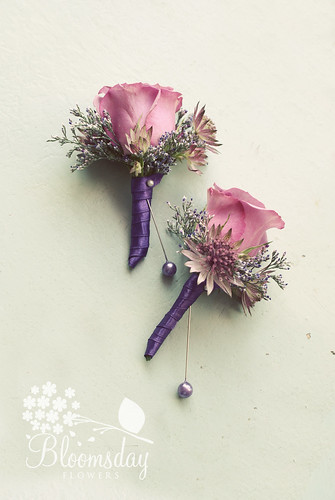 vintage style buttonholes | by bloomsdayflowers