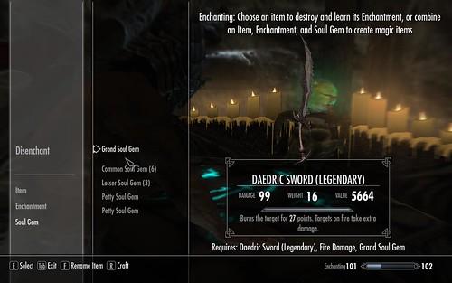 Daedric sword legendary
