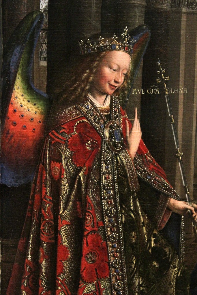 quotthe annunciationquot by jan van eyck c 14341436 � detail