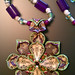 Dimensional Pendant with Beaded Neck cord