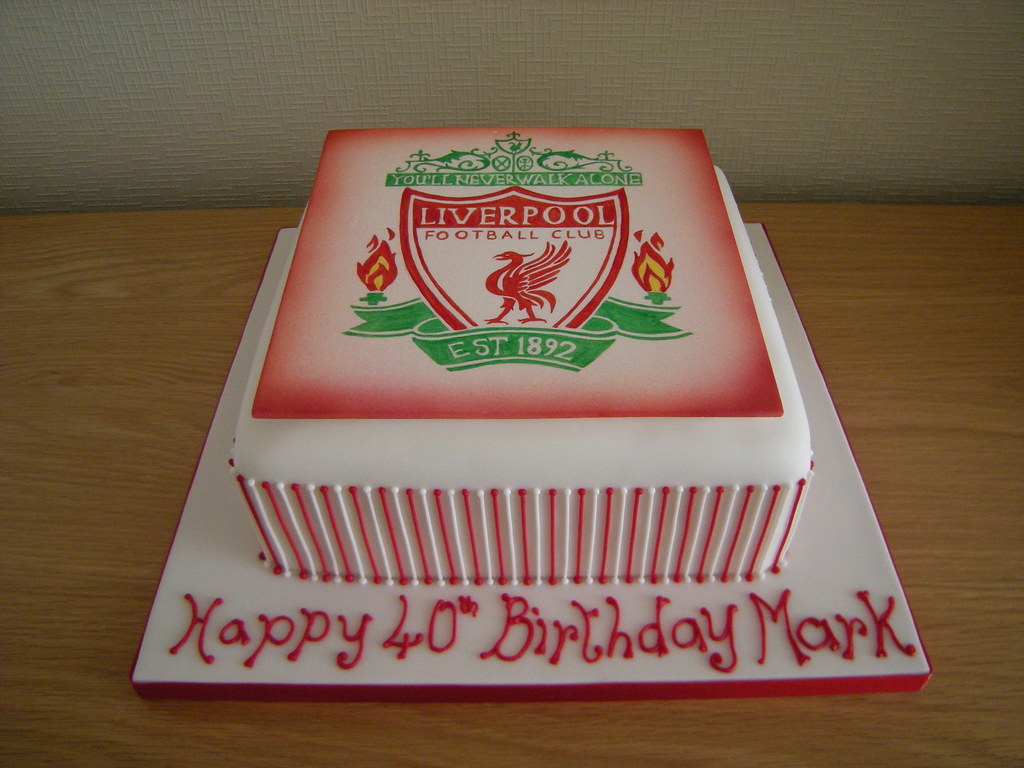 Image Of A Football Cake