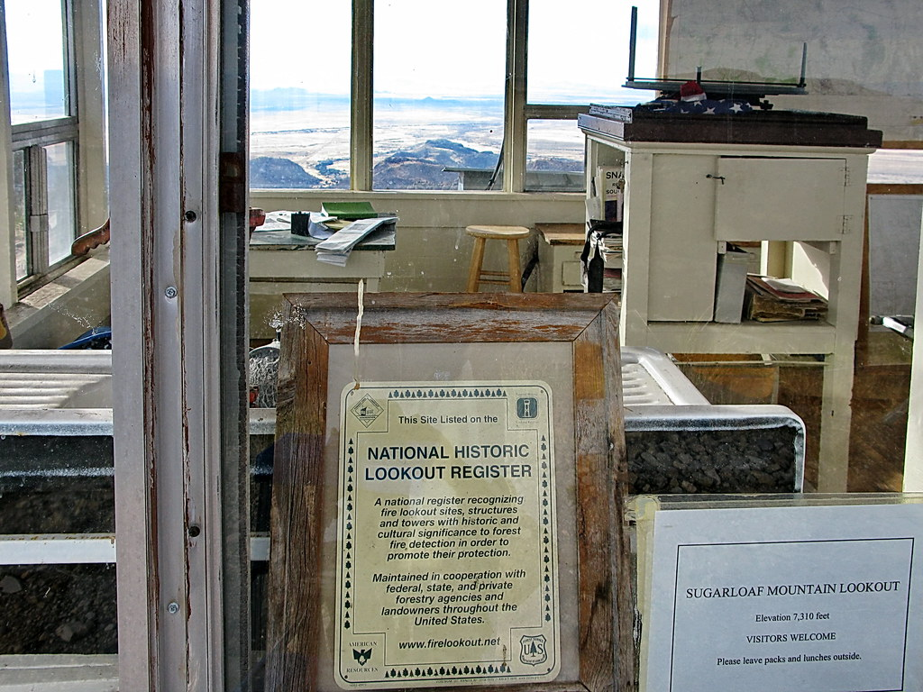 Sugarloaf Mountain - Fire Lookout Cabin - view to west of ...