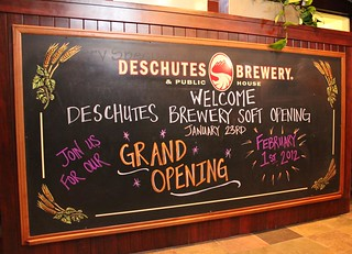 Bend Pub Grand Opening Chalkboard | by DeschutesBrewery