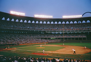 Night game at Busch Stadium, 1966 | by Missouri History Museum