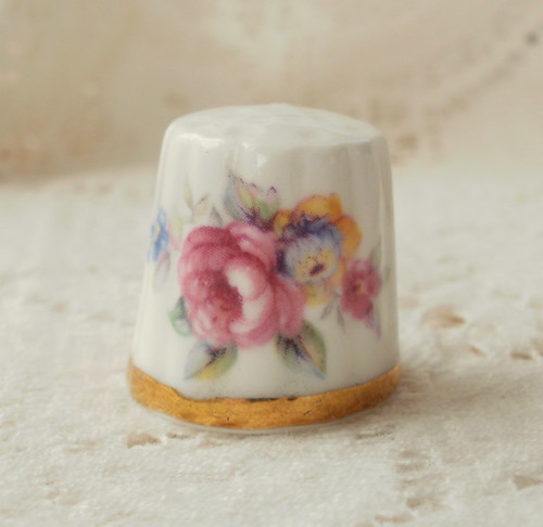 Vintage Rose Thimble | by glassbeadtreasures