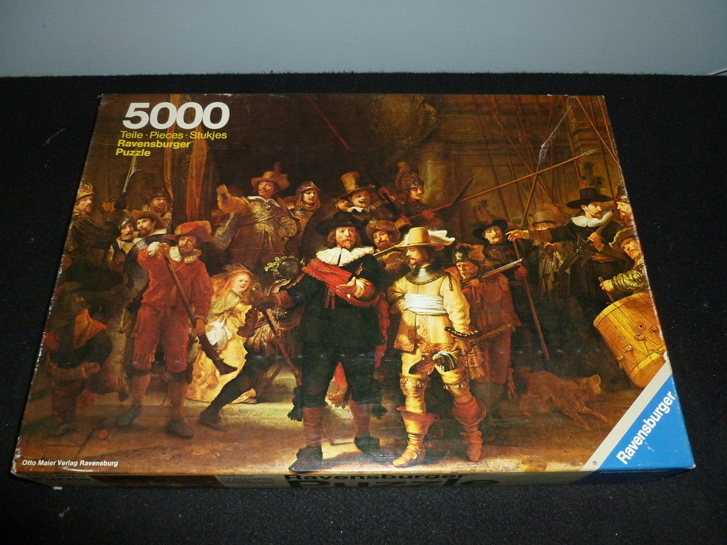5000 piece puzzle the nightwatch by rembrandt ravensb for Custom 5000 piece puzzle