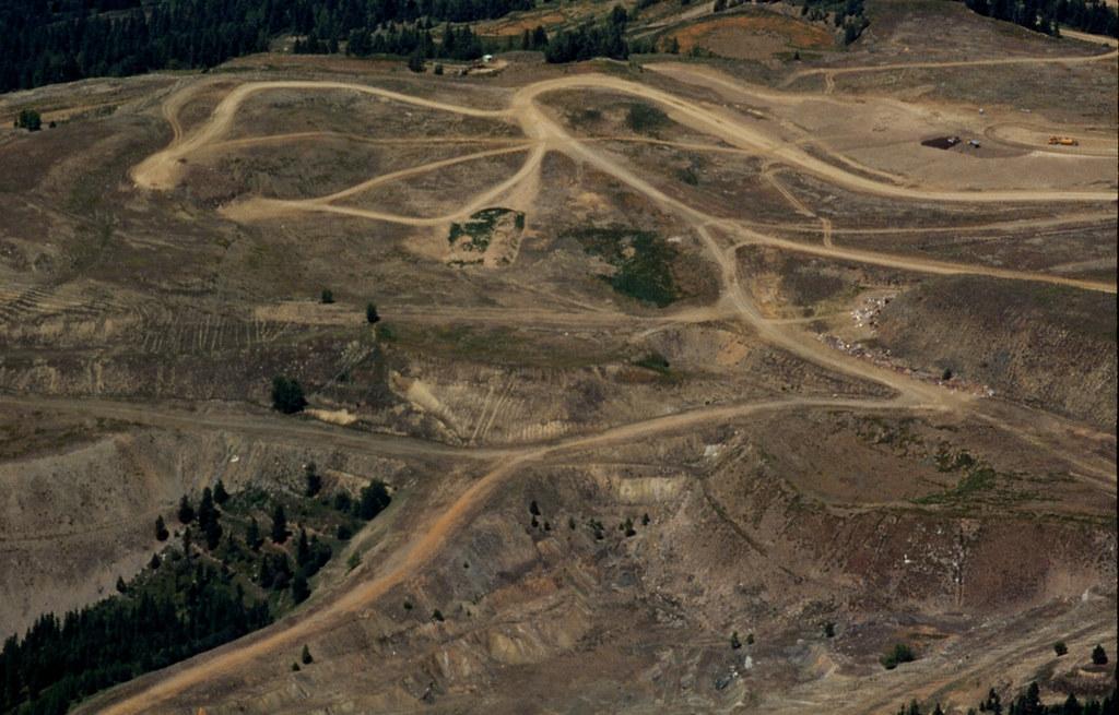 Abandoned Wr Grace Vermiculite Mine Near Libby Montana