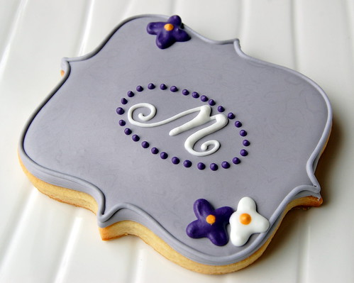 Monogram cookie | by Sew La Ti Dough