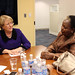 UN Women Executive Director Michelle Bachelet meets with Gertrude I. Mongella, Secretary General of the 4th World Conference on Women