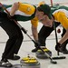 Napanee, ON Feb 12 2011 M&M Canadian Juniors Team NO Second Kyle Toset and Lead Joel Adams. Michael Burns Photo Ltd.